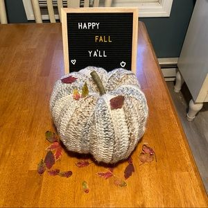 Handmade crochet fall decor pumpkin 🍁